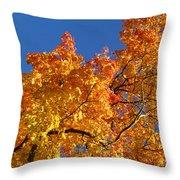 Gradient Autumn Tree Throw Pillow
