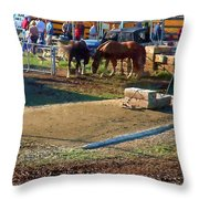 Grading The Ring Throw Pillow