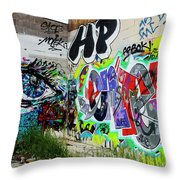 Graffiti 3 Throw Pillow