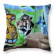 Graffiti Art Albuquerque New Mexico 7 Throw Pillow