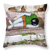 Graffiti Art Lencois Brazil Throw Pillow