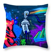 Graffiti Art Nyc 14 Throw Pillow