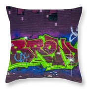 Graffiti Art Nyc 2 Throw Pillow