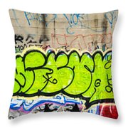 Graffiti Art Nyc 3 Throw Pillow