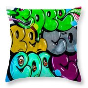 Graffiti Art Nyc 8 Throw Pillow