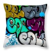 Graffiti Art Nyc 9 Throw Pillow