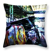 Graffiti Car Throw Pillow