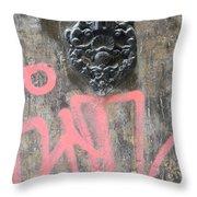 Graffiti Door Knocker Throw Pillow