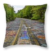 Graffiti Highway, Facing North Throw Pillow