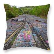 Graffiti Highway, Facing South Throw Pillow