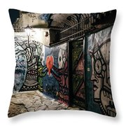 Graffiti In Plaka I Throw Pillow by James Billings