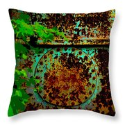 Graffiti In The Forest Throw Pillow