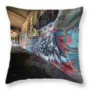 Graffiti In The Subway Throw Pillow