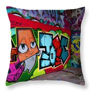 Graffiti London Style Throw Pillow