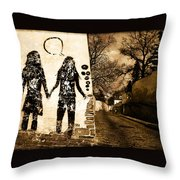 Graffiti Love Throw Pillow