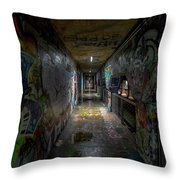 Graffiti Tunnel Throw Pillow