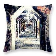Graffiti Under Bridge Throw Pillow