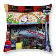 Graffiti Village Store Nyc Greenwich  Throw Pillow