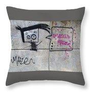 Graffitti Throw Pillow