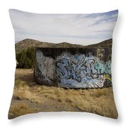 Grafitti In The Middle Of Nature Throw Pillow