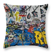 Grafitti On The U2 Wall, Windmill Lane Throw Pillow