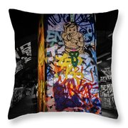 Grafitti Tunnel Throw Pillow
