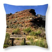 Grafton Cemetery Throw Pillow