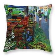 Grafton Farmer's Market Throw Pillow