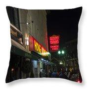 Grafton Street Pub And The Hong Kong In Harvard Square Cambridge Ma Throw Pillow