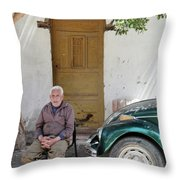 Graham And His Beetle  Throw Pillow