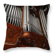 Graham Chapel Pipes Throw Pillow