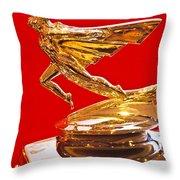 Graham Goddess Hood Ornament Throw Pillow