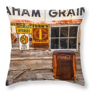 Graham Grain Company Throw Pillow