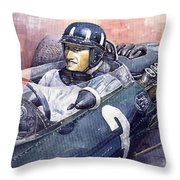 Graham Hill Brm P261 1965 Throw Pillow