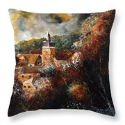 Graide Village Belgium Throw Pillow