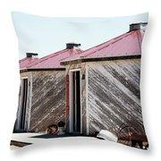Grain Bins Color Throw Pillow