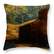 Grain Elevator On Lake Erie From A Photo By Nicole Bulger Throw Pillow