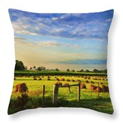 Grain In The Field Throw Pillow