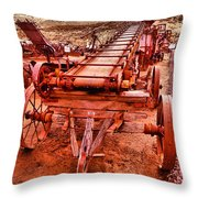 Grain Sack Loader Throw Pillow