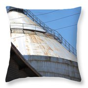 Grain Silo In Roswell Throw Pillow