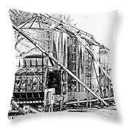 Grain Silos In Black And White Throw Pillow