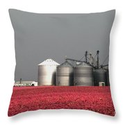 Grain Storage Infrared No1 Throw Pillow