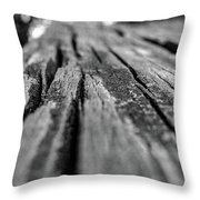 Grains Of Wood Throw Pillow