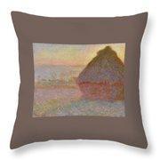 Grainstack, Sunset Throw Pillow