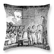Grammar School, 1790s Throw Pillow