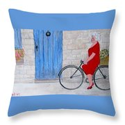 Gran In Provence Throw Pillow