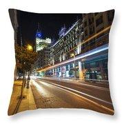 Gran Via Light Trails 1.0 Throw Pillow