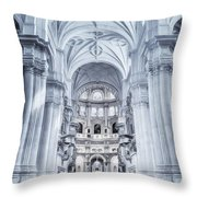 Granada Cathedral Interior Throw Pillow