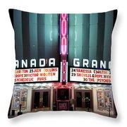 Granada Marquee Dallas Throw Pillow