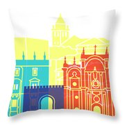 Granada Skyline Pop Throw Pillow